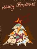圣诞节明信片 免版税图库摄影