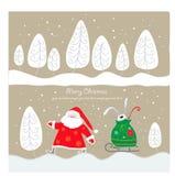 圣诞节明信片 库存例证
