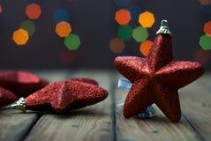 圣诞节星光特写镜头  免版税库存图片