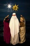 圣诞节星和圣人 图库摄影