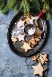 圣诞节星形状糖屑曲奇饼 库存照片