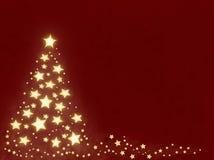 圣诞节星形结构树 免版税库存照片