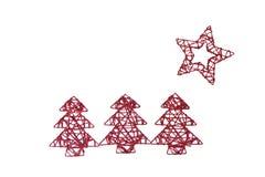 圣诞节星形结构树 库存图片