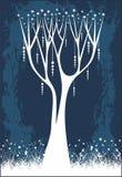 圣诞节星形结构树 库存例证
