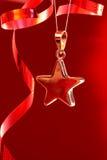 圣诞节星形飘带 免版税库存图片