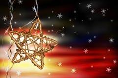 圣诞节星形 免版税图库摄影