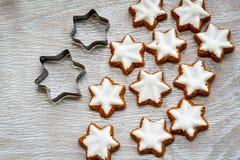 圣诞节星曲奇饼 免版税库存照片