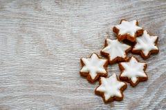 圣诞节星曲奇饼 免版税库存图片