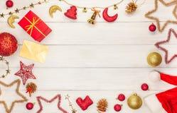 圣诞节星玩具,球,响铃,圣诞节铃声, 免版税库存图片