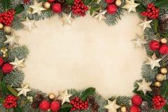 圣诞节星背景边界 免版税库存图片