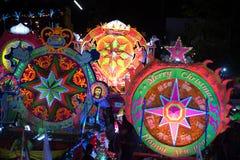圣诞节星节日游行在泰国 免版税图库摄影