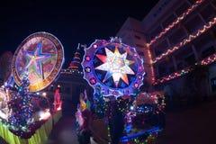 圣诞节星节日游行在泰国 库存图片