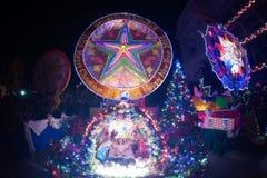 圣诞节星节日游行在泰国 库存照片