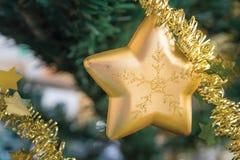 圣诞节星装饰品 免版税库存图片