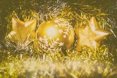 圣诞节星装饰品 免版税图库摄影