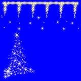 圣诞节星设计在蓝色背景中 免版税库存图片