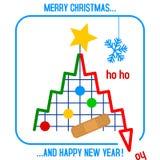 圣诞节景气停滞结构树 库存照片