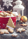 圣诞节曲奇饼。 库存图片