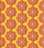 圣诞节曲奇饼乱画无缝的传染媒介样式 库存照片