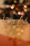 圣诞节曲奇饼切割工形状星形结构树 库存图片