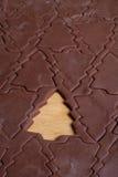 圣诞节曲奇饼切割工结构树 库存图片