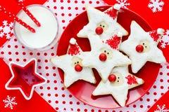 圣诞节曲奇饼圣诞老人,款待的创造性的想法哄骗, fu 免版税库存照片
