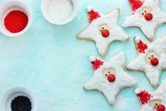 圣诞节曲奇饼圣诞老人,款待的创造性的想法哄骗, ho 免版税库存图片