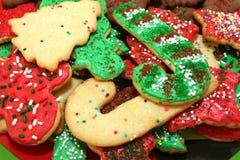 圣诞节曲奇饼堆 免版税库存图片