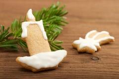 圣诞节曲奇饼姜饼做宫殿甜点 图库摄影