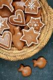 圣诞节曲奇饼姜饼做宫殿甜点 免版税图库摄影