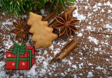 圣诞节曲奇饼姜饼做宫殿甜点 免版税库存图片