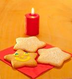 圣诞节曲奇饼形状的星形三 图库摄影