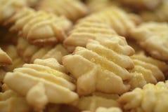 圣诞节曲奇饼形状的结构树 免版税图库摄影