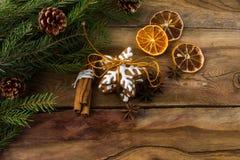 圣诞节曲奇饼拷贝空间 免版税图库摄影
