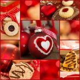 圣诞节曲奇饼拼贴画 库存图片