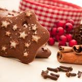 圣诞节曲奇饼星形 库存照片
