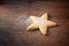 圣诞节曲奇饼星 免版税图库摄影