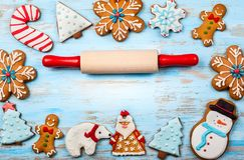 圣诞节曲奇饼查找图象查找更多我的投资组合同样系列 库存照片