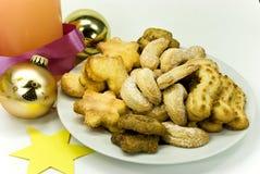 圣诞节曲奇饼牌照 免版税库存图片