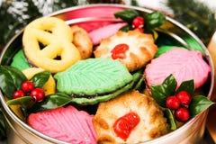 圣诞节曲奇饼特写镜头 免版税库存照片