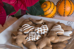圣诞节曲奇饼用桔子 免版税库存照片