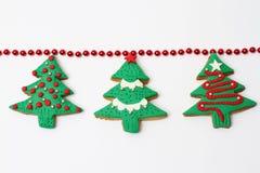 圣诞节曲奇饼结构树 库存照片