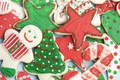 圣诞节曲奇饼结霜了 免版税库存图片