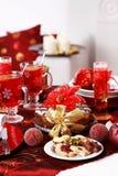 圣诞节曲奇饼行军窗格 免版税库存图片
