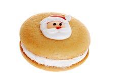 圣诞节曲奇饼表面重点圣诞老人 库存图片