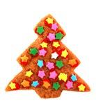 圣诞节曲奇饼装饰了结构树 库存照片
