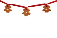 圣诞节曲奇饼装饰繁文缛节 库存照片