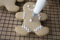 圣诞节曲奇饼装饰 免版税图库摄影