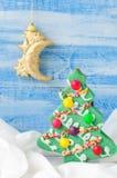 圣诞节曲奇饼结构树 免版税图库摄影