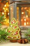 圣诞节曲奇饼结构树 免版税库存照片